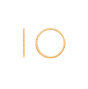 Серьги-конго красное золото алмазная грань d30
