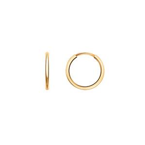 Серьга-конго красное золото гладкая 1 шт d10