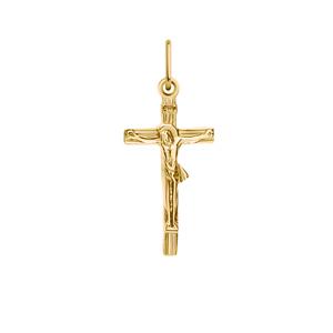 Крест красное золото Прямой