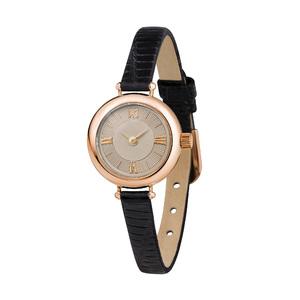 Часы Nika VIVA золото кварцевые ремень черный 6мм