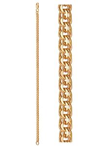 Браслет красное золото Гарибальди d060 полновес