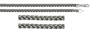 Браслет серебро Гарибальди d070 оксид полновес