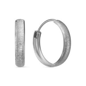 Серьги конго серебро Матовые d025